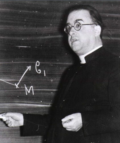 A photo of Georges Lemaître, formulator of big bang cosmology